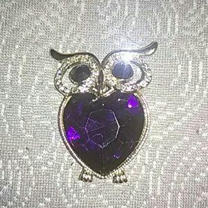 🆕 Monet golden owl brooch hijab pin
